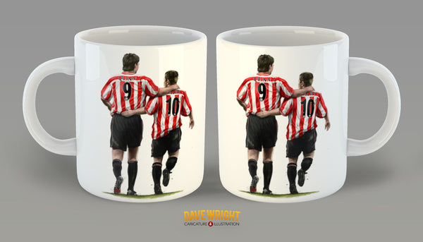 'The Perfect Match' Quinn and Phillips (Sunderland AFC) mug - by Dave Wright