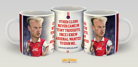 Dennis Bergkamp (Arsenal FC) Limited Edition Mug