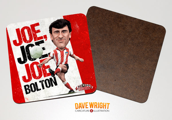 Joe Bolton - Sunderland cult hero -  drinks coaster.