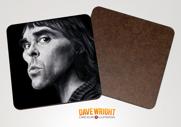 Ian Brown drinks coaster