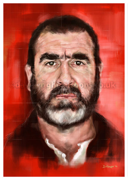 Eric Cantona. Limited edition print. (A4 size 297mm x 210mm)