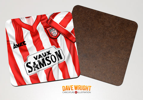 Sunderland classic shirt drinks coaster  - Farewell to Roker.
