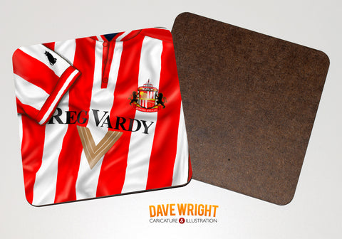 Sunderland classic shirt drinks coaster  -  1999-00 (home)