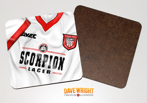 Sunderland classic shirt drinks coaster  - Farewell to Roker (away)