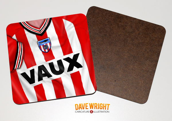 Sunderland classic shirt drinks coaster  - Division 3 Champions (home)