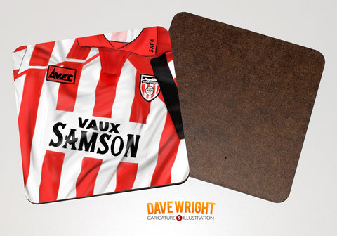 Sunderland classic shirt drinks coaster  - 94-96 home.