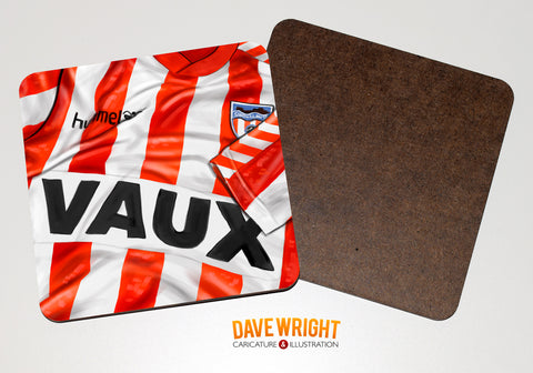 Sunderland classic shirt drinks coaster  -  1988-91 (home)