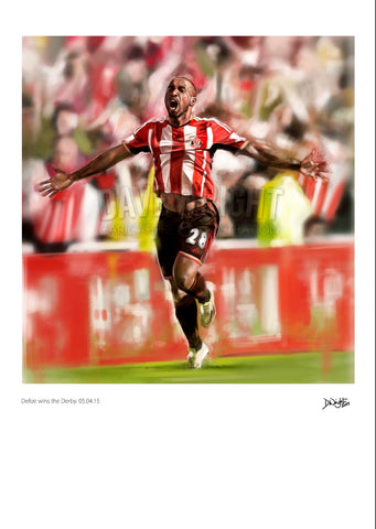 Defoe wins the derby  - A4 or A3 print