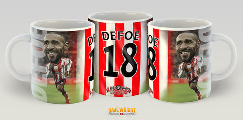 Jermain Defoe, Red & White Legends (Sunderland AFC) Caricature Mug