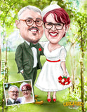 Bespoke, full colour, 2 person caricature