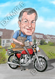 Bespoke, full colour, 1 person caricature