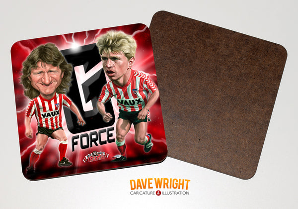 Gates and Gabbiadini - The G-Force (Sunderland AFC) -  drinks coaster.