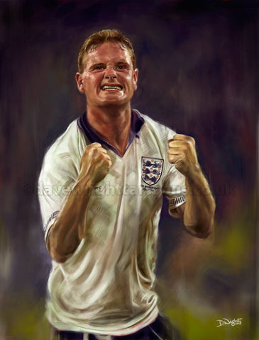'Gazza' Limited edition art print. (A4 size 297mm x 210mm) or A3 size (420mm x 297mm)