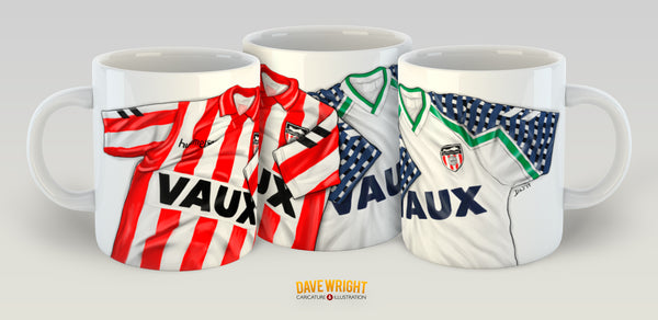 1992 Cup run shirts  (Sunderland AFC) mug - by Dave Wright