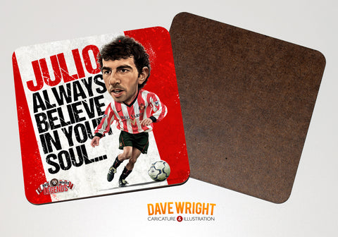Julio Arca - Sunderland cult hero -  drinks coaster.