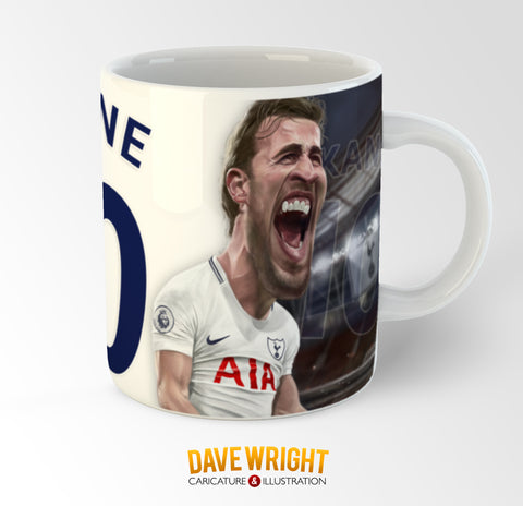 Harry Kane, Spurs and England, Limited Edition Caricature Mug