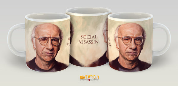 Larry David  - Social Assassin. Curb Your Enthusiasm. Limited Edition Mug