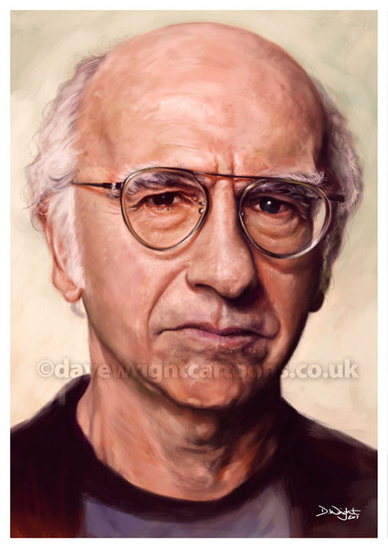 Larry David. Curb Your Enthusiasm, Seinfeld. Limited edition print. (A4 size 297mm x 210mm)