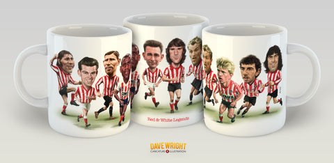 Red & White Legends '2' (Sunderland AFC) Limited Edition Mug
