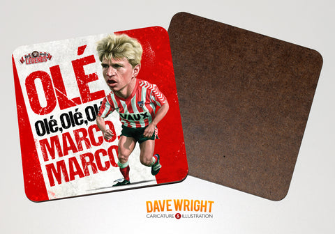Marco Gabbiadini - Sunderland legend -  drinks coaster.