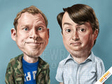 Peep Show 'The El-Dude Brothers' caricature mug