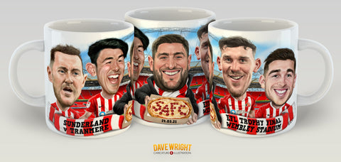 Souvenir EFL Trophy Final  'Pizza Cup' mug (Sunderland AFC) - by Dave Wright