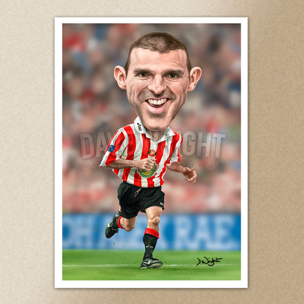 Alex Rae (Sunderland AFC) caricature print. (A4 size 297mm x 210mm) or A3 size (420mm x 297mm)