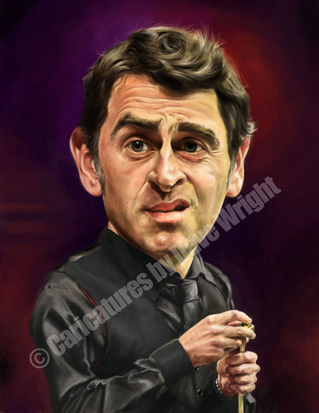 Ronnie O'Sullivan Caricature. Limited edition print. (A4 size 297mm x 210mm)