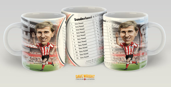 Gary Rowell, Red & White Legends (Sunderland AFC) Caricature Mug