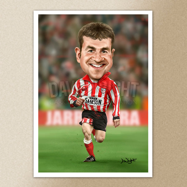 Craig Russell (Sunderland AFC) caricature print. (A4 size 297mm x 210mm) or A3 size (420mm x 297mm)