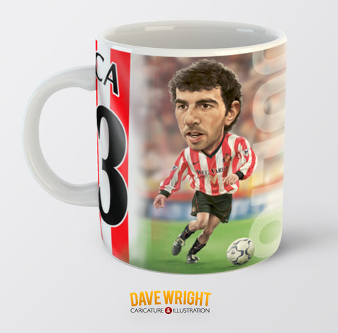 Julio Arca, Red & White Legends (Sunderland AFC) Caricature Mug