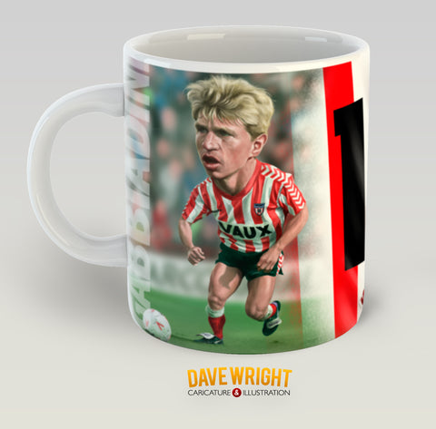 Marco Gabbiadini, Red & White Legends (Sunderland AFC) Caricature Mug