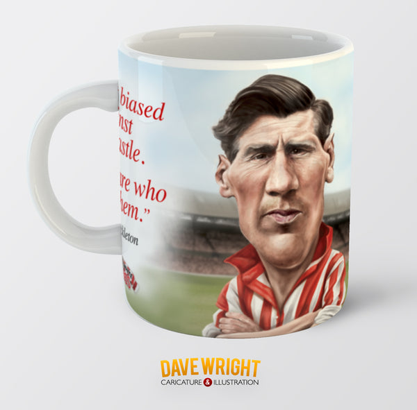 Len Shackleton, Red & White Legends (Sunderland AFC) Caricature Mug