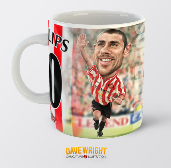 Kevin Phillips, Red & White Legends (Sunderland AFC) Caricature Mug