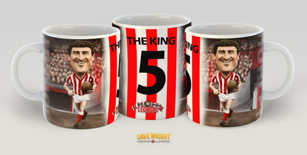 Charlie Hurley, Red & White Legends (Sunderland AFC) Caricature Mug