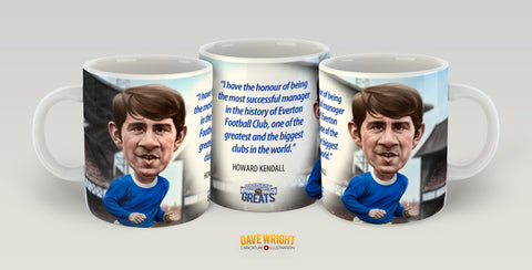 Howard Kendall (Everton FC) Limited Edition Mug