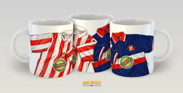 '105 points' retro shirt design (Sunderland AFC) mug - by Dave Wright
