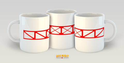Main Stand - Leitch Lattice work (Sunderland AFC) mug - by Dave Wright