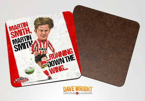 Martin Smith - Sunderland cult hero -  drinks coaster.