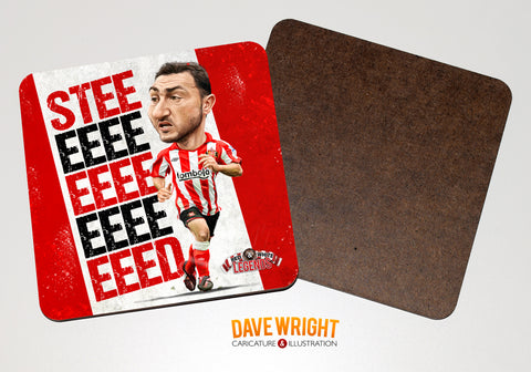 Steed Malbranque- Sunderland cult hero -  drinks coaster.
