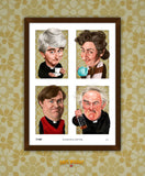 Father Ted 'Ecumenical Matters' Limited edition caricature art print. (A4 size 297mm x 210mm) or A3 size (420mm x 297mm)