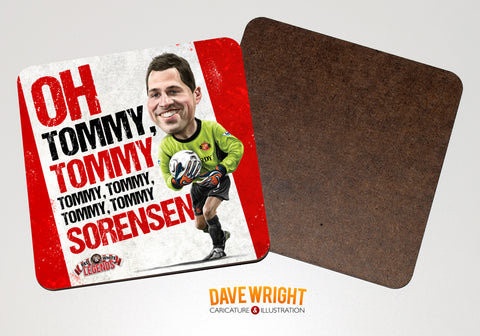 Thomas Sorensen - Sunderland legend -  drinks coaster.