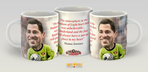 Thomas Sorensen, Red & White Legends (Sunderland AFC) Caricature Mug