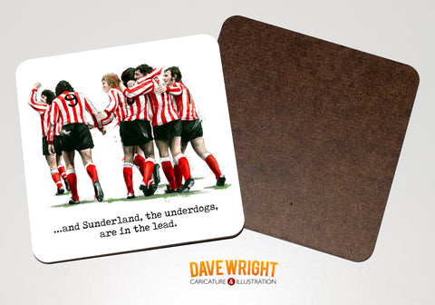 'The Underdogs'  Sunderland 1973 drinks coaster.