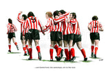 'The Underdogs'. Sunderland AFC 1973 FA-Cup Final art print. (A4 size 297mm x 210mm) or A3 size (420mm x 297mm)
