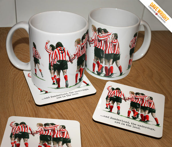 The Underdogs - Sunderland AFC 1973 tribute  Mug & Coaster set