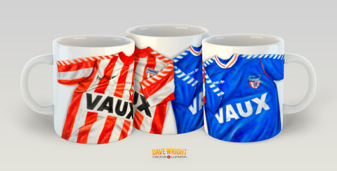 VAUX 88-91 retro shirt design (Sunderland AFC) mug - by Dave Wright