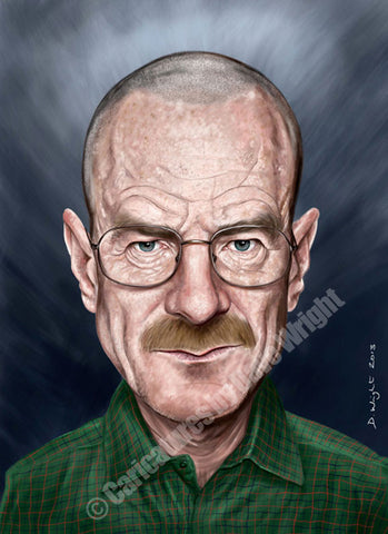 Walter White. Limited edition print. (A4 size 297mm x 210mm)