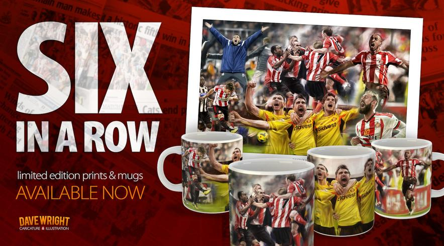 'six in a row' sunderland afc mugs and prints available here.