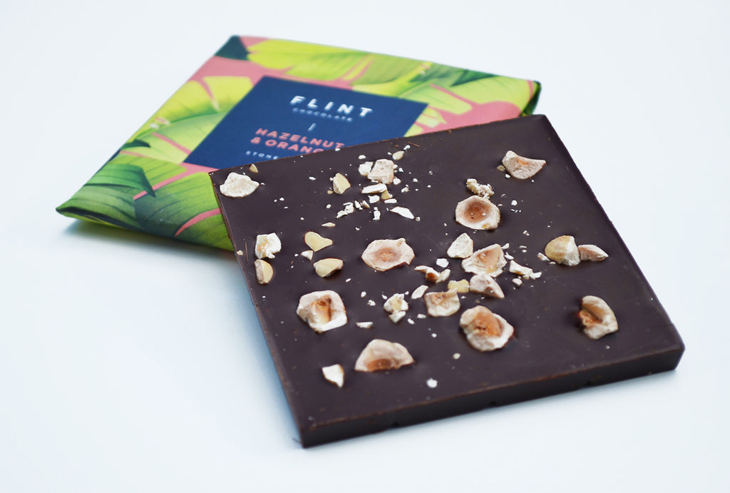 flint chocolate hazelnut orange